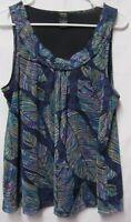 RAFAELLA  shirt top blouse L 10/12 Bust 40-41 2 layers purple/black Multi color
