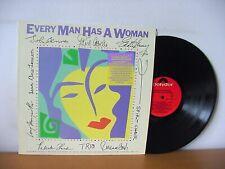EVERY MAN HAS A WOMAN PROMO LP (POLYDOR 823 490) JOHN LENNON ELVIS COSTELLO