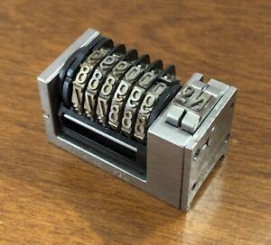 "Atlantic Zeiser Model 12SL Letterpress Numbering Machine Reverse Gothic 5/32"" 12"