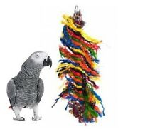 HAPPY PET ROPE PARROT PREENER CHEW SHRED PLUCK HANGING CAGE TOY ACCESSORY 00702