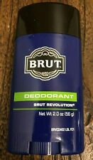 BRUT REVOLUTION Men's DEODORANT Solid 2 oz. Faberge NEW