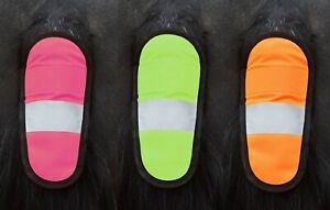 New Hi Vis Reflective Horse Tail Band Wrap Yellow Pink Orange Safety All Sizes