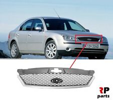 FOR FORD MONDEO MK3 2000-2003 NEW FRONT BUMPER UPPER GRILL WITH TRIM PRIMED