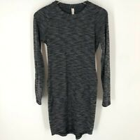 Lululemon &go Where-To Dress Heathered Black Gray Long Sleeve Short Dress Size 6