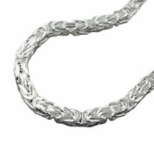 Bracelet 0 1/4in King's Chain Four Sided Shiny Silver 925 Approx. 8 9/32in
