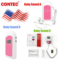 FDA baby sound Fetal Doppler 3MHz Probe, Baby Heart Monitor, Backlight LCD, GeL