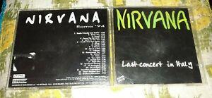 Nirvana Last Concert In Italy cd live Roma 1994 grunge rock
