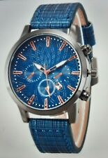 Mens luxury Quartz Watch Leather Strap