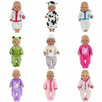 Baby Doll Clothes For 17 Inch Girl Doll Pajamas Jump Suits Baby Toy Accessories