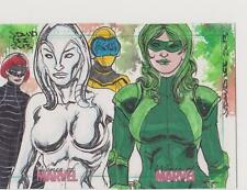 WOMEN OF MARVEL SERIES 2 TRADING CARDS DUAL SKETCHAFEX SKETCH CARD J DAVID LEE