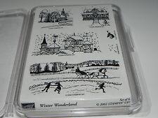 Stampin Up Winter Wonderland Stamp Set of 6 NEW UM Rare HTF Winter Scenes