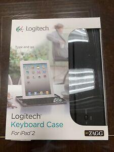 New Logitech by Zagg Bluetooth Keyboard w/ Stand for Apple iPad 2 / 3 / 4 Retina