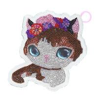 5D Full Diamond Keychain Key Chain Novelty Cat Bag Hanging Decor Accessories