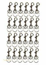 (Lot of 24) Keychains Snap Trigger Swivel Hook Clips Belt Clip Key Rings Spring