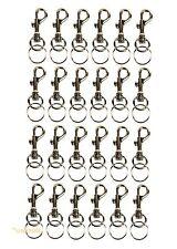 (Lot of 24) Keychains Snap Trigger Swivel Hook Clips Belt Clip Key Rings Spring