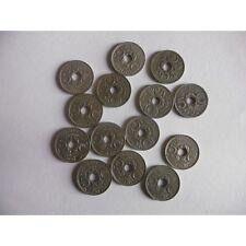 Lot de 14 pieces de 5 CENTIMES-Petit module-1921 à 1926-1930 à 36-38-39
