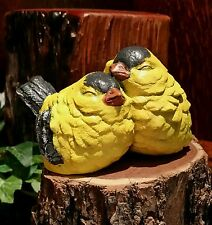 Little Goldfinches- Bird Figurine/Garden Statue -Concrete Yard Art Decor Collect