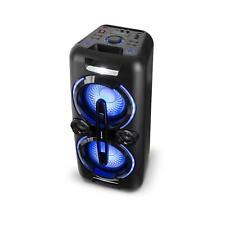 Party Stereoanlage mobile Boombox Lautsprecher USB Bluetooth MP3 Radio Akku Box