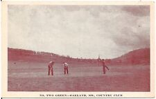 No. Two Green at Country Club in Oakland MD Postcard