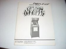 Stern Astro Invader Video Game Service Manual 1980 complete original