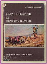 Rocchiero CARNET SEGRETO ERNESTO RAYPER Genova anni 70 SIAG