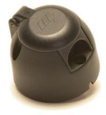 Towbar Electrics - Maypole 7 Pin 12N Socket Black with Fog Cut Out - Caravan