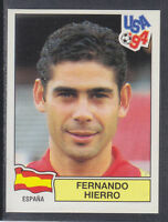Panini - USA 94 World Cup - # 190 Fernando Hierro - Espana (Green Back)