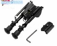 "For Rifle Hunt 6"" to 9"" Sling Swivel Spring Return Bipod+20mm Rail Adapter Mount"