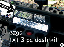 Ezgo txt Golf Cart 3 pc Highly polished Diamond Plate Dash Cover Set