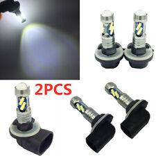 2x100W 7000k-7500kK White High Power LED Fog Lights Driving Bulb DRL double core