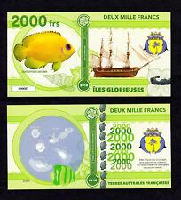 ILES GLORIEUSES ● TAAF / COLONIE ● BILLET POLYMER 2000 FRANCS ★ N.SERIE 000007