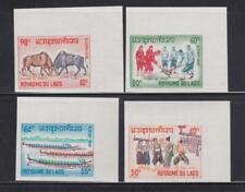 LAOS STAMPS 1965  LAOTIAN PASTIMES FOLKLORE AND FESTIVALS IMPERF MNH - LAN319