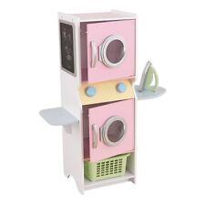 Laundry Play Set Pink Clothes Washing Machine Dryer Kids Girls Toy Fun Gift