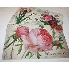 2 wunderschöne Platzset, Tischset, Platzdeckchen im Rosen-Look, neu