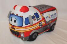 FDNY Plush Firetruck SIREN From 10 YR 9/11 Collectible Cartoon Fire Truck