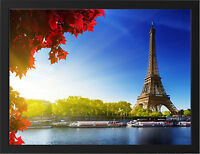 EIFFEL TOWER AUTUMN NEW A3 FRAMED PHOTOGRAPHIC PRINT POSTER