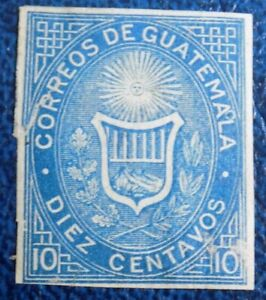Guatemala Stamp SC 3 unused 1871