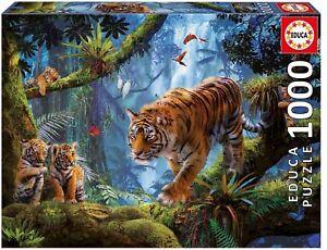 Educa 17662. Tigres en el Árbol . Puzzle de 1000 piezas. 68x48cm