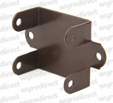 More details for fence panel clips / trellis clip brackets 32mm easy fit brown coated
