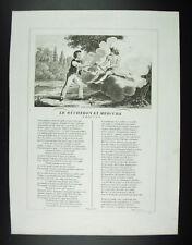 Le bûcheron et Mercure à M. Le C. D. B. Fables Jean de La Fontaine 1834 gravure