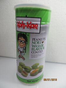 "Koh Kae ""Peanuts Nori Wasabi Flavour Coated Snacks""  240g Resealable Tin"