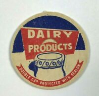 Vintage Milk Bottle Cap Dairy Products Double Cap Protected With Sealon Red Blue
