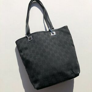 Gucci Handbag Monogram Black Bag Vintage Shopper Authentic y2k Small