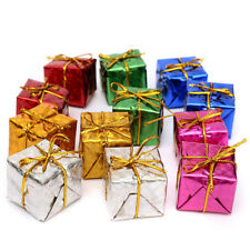 12Pcs Christmas&Xmas Ornaments Mini Foam Gift Box Tree Hanging Decorations