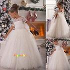 robes de fille robe enfant robe filles de fleurs de mariage blanc ivoire kids-G