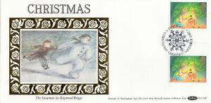 (86932) GB Benham FDC BLCS28 GUTTER PAIR Christmas Christleton 1987
