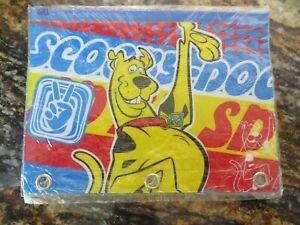 2 Piece Vintage Scooby Doo Pencil Pen Pouch Case Bag Cartoon Network NWT