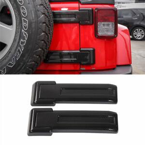 Carbon Fiber Tailgate Hinge Cover Trim For Jeep JK Wrangler Unlimited 2007-2018