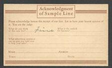 Ca 1936 PC CHICAGO IL CHICAGO WOOLEN MILLS SAMPLE LINE SURVEY
