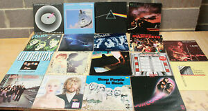 18 x CLASSIC ROCK Vinyl LP Records QUEEN,PINK FLOYD,DIRE STRAITS,DEEP PURPLE-250